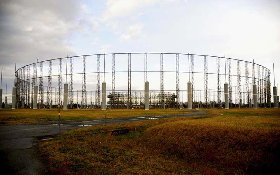 The AN/FLR-9 antennae complex, located on Security Hill at Misawa Air Base, Japan, is slated to be decommissioned and dismantled in 2013.