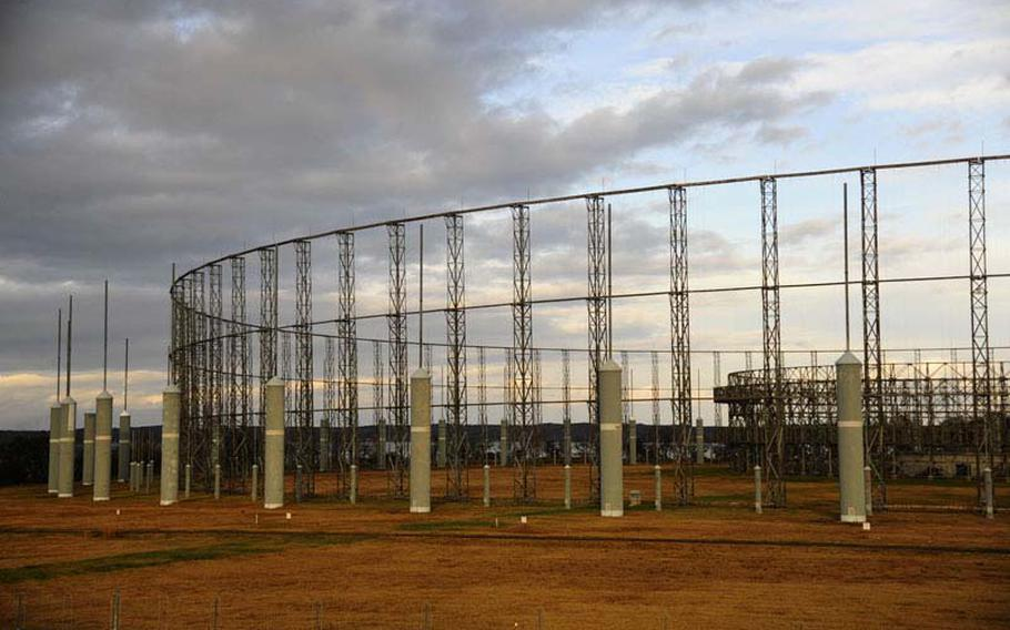 Misawa Air Base's AN/FLR-9 antennae network, better known as the ''Elephant Cage,'' will be dismantled in the new year.