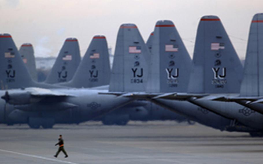 Yokota Air Base near Tokyo, Japan