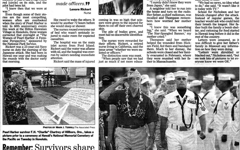 """Inside page for the Stars and Stripes' Dec. 7, 2001, editions. [<a href=""""http://stripes.com/polopoly_fs/1.255967.1386218300!/menu/standard/file/stars_and_stripes_12-07-2001-P17.pdf"""">Click for larger version (PDF)</a>]"""