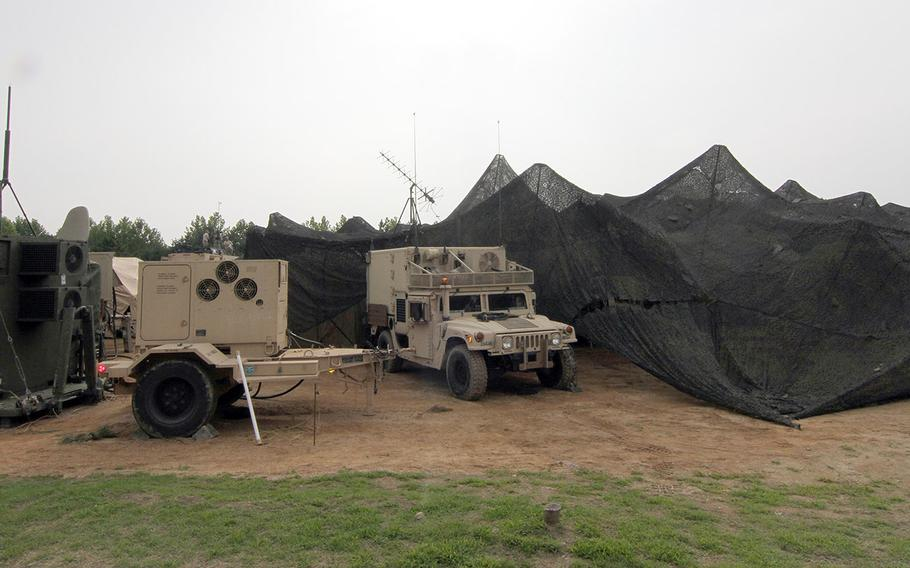 Communications equipment is seen during Exercise Ulchi Freedom Guardian 2014 in South Korea.