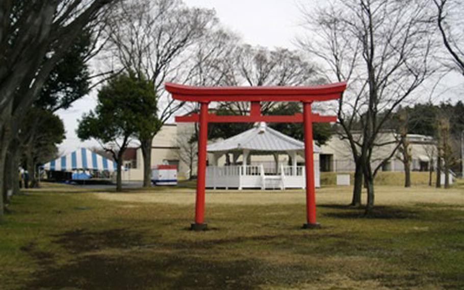 Torii gate at Camp Zama
