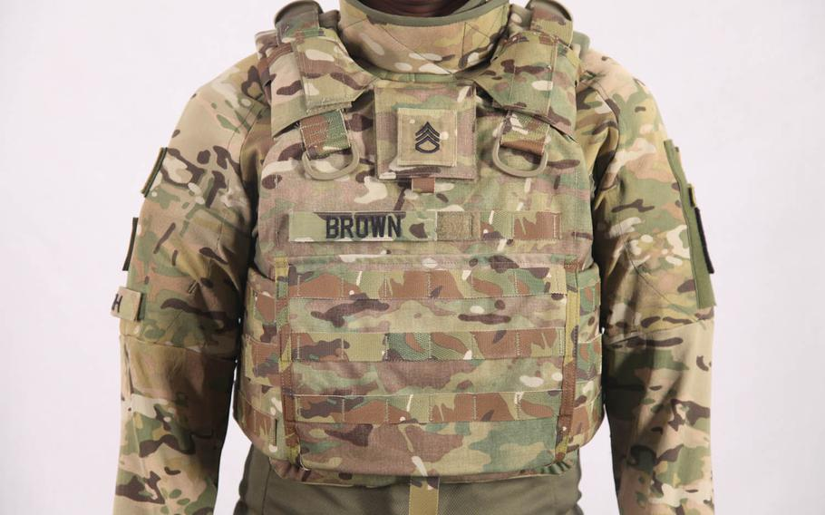 The new Torso and Extremities Protection system, which is slated to roll out in 2019 and has been undergoing field tests at bases across the U.S., weighs about 23 pounds -- 26 percent lighter than gear worn today.