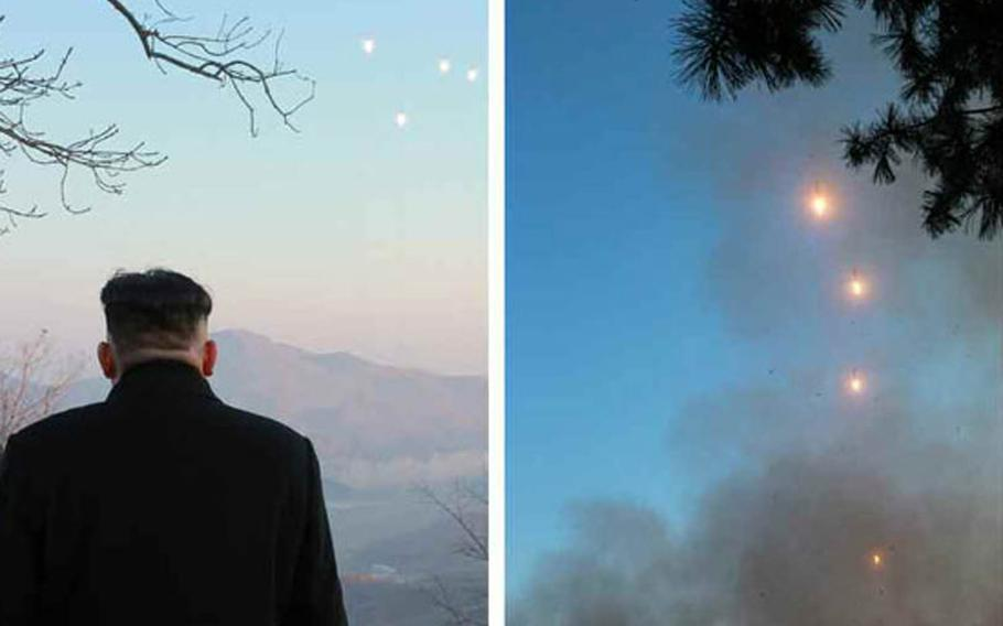 The Tuesday, March 7, 2017, edition of North Korea's official Rodong Sinmun newspaper published several undated photos of the country's latest missile launch, as well as photos of North Korean leader Kim Jong Un reportedly overseeing the test.