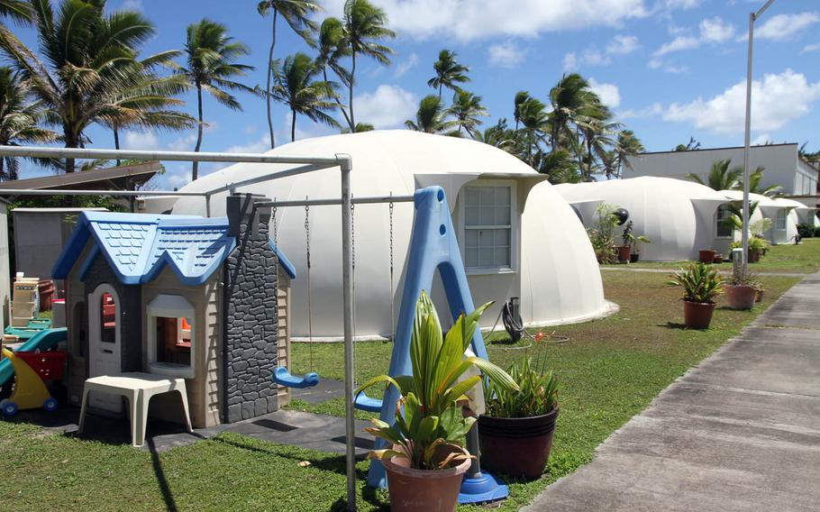 Some families on Kwajalein Island live in dome homes, designed to withstand the punishing heat, humidity and salty air.