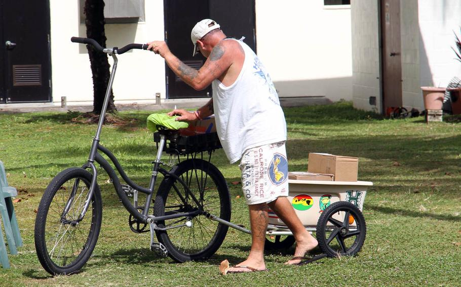 The handlebars of Kwajalein Island bicycles have evolved over decades into reach-for-the-sky heights. Some say the design keeps bikers cooler by exposing more of the body to wind.