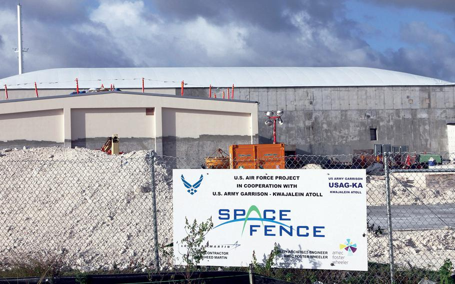 The $914 million Space Fence system being built on Kwajalein Island in the South Pacific will allow the Air Force to monitor space debris and hostile threats in Earth's lower orbits.