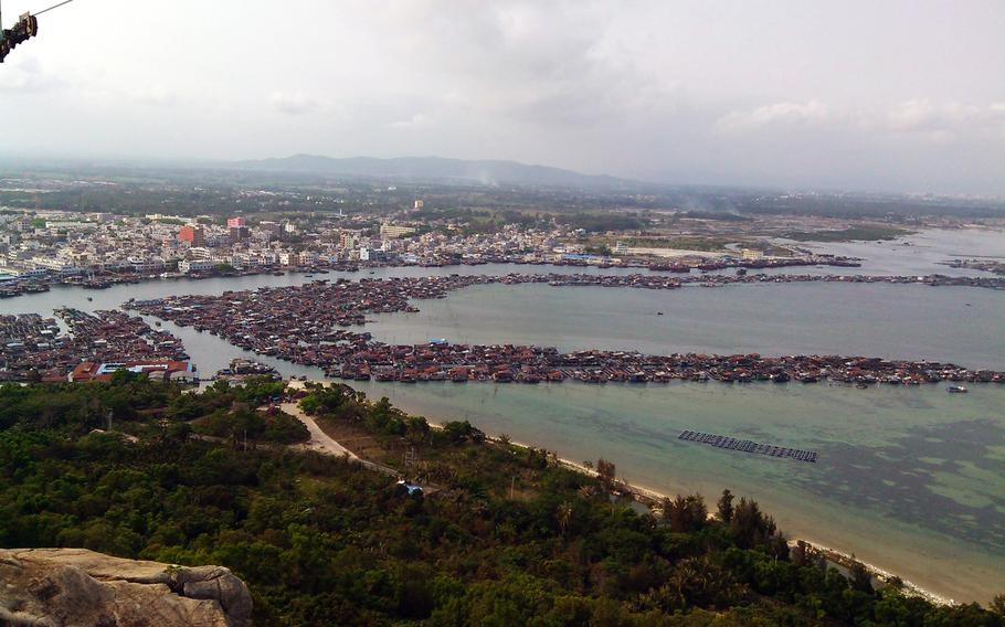 The autonomous county of Lingshui in Hainan, China is shown in this April 2014 file photo.