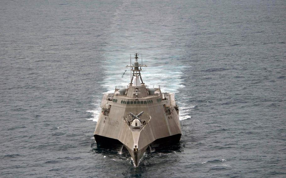 The USS Coronado arrived at Cam Ranh International Port, Vietnam, for a five-day exericise with the Vietnamese navy, Wednesday, July 5, 2017.