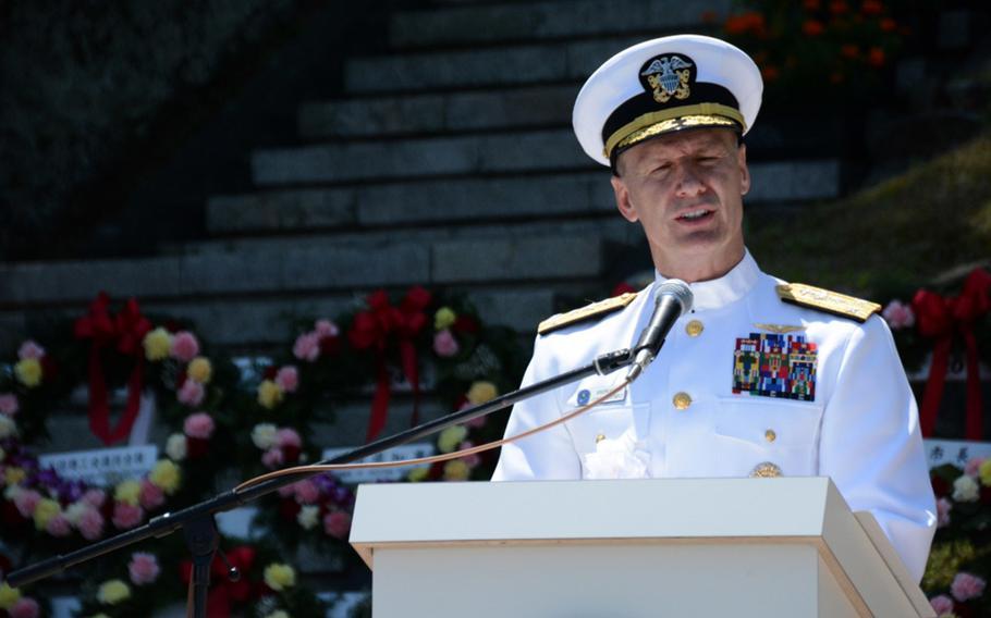 Vice Adm. Joseph Aucoin, U.S. 7th Fleet commander, on May 20, 2017.