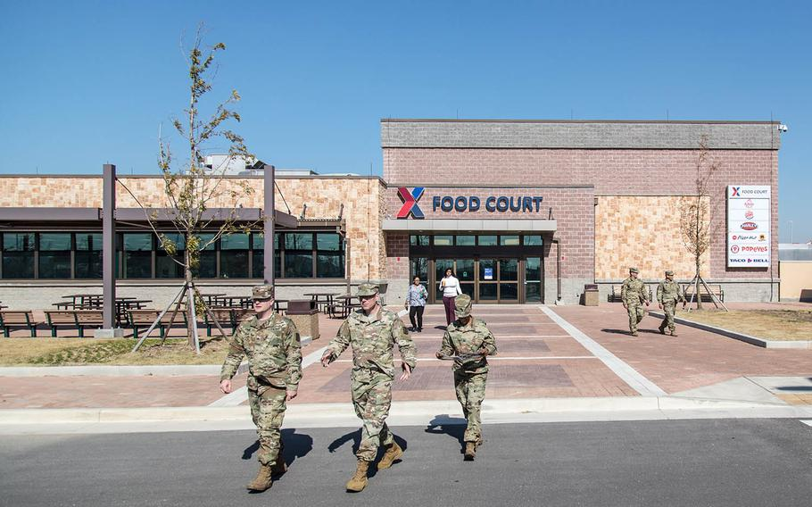 A bevy of fast-food restaurants opened at Camp Humphreys' new food court, Monday, Oct. 30, 2017.