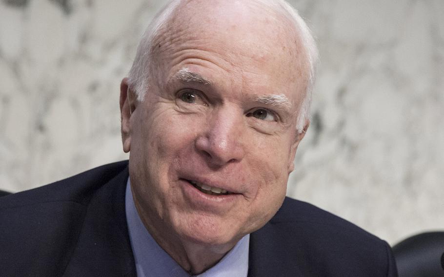 Sen. John McCain, R-Ariz., at a Senate Armed Services Committee hearing in 2016.
