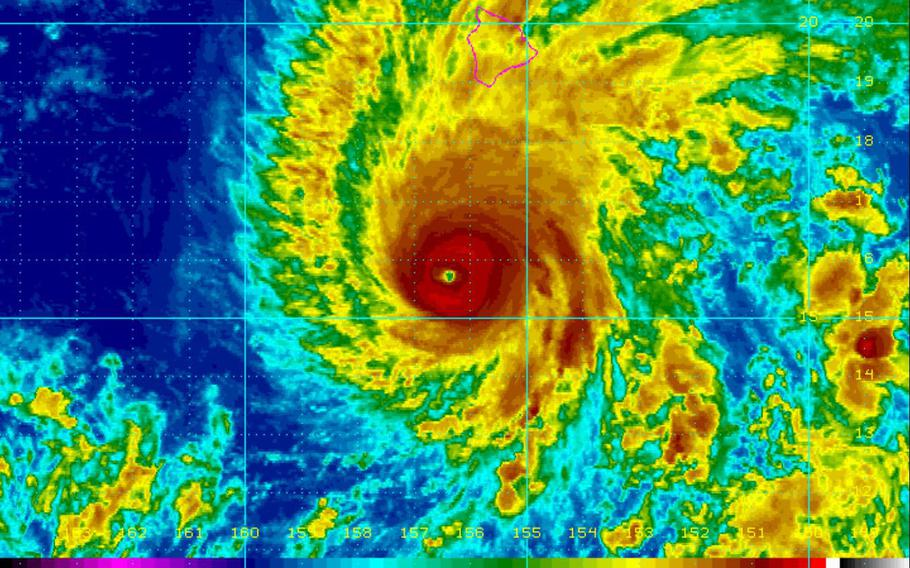 Hawaii-based Navy vessels and Air Force aircraft were being moved out of state Wednesday ahead of a Category 4 hurricane barreling toward the island chain.