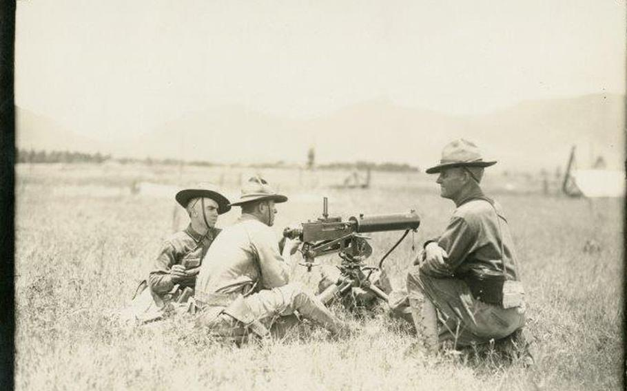 An undated photo of Officer Training Camp in Hawaii during World War I.