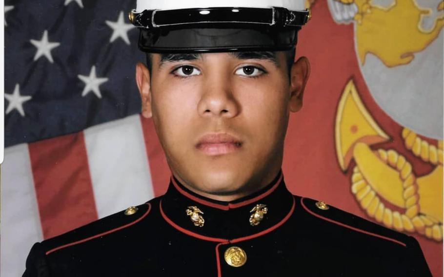 Lance Cpl. Hans Sandoval-Pereyra, 21, of Fairfax, Va., died Tuesday, May 28, 2019, from injuries sustained in an accident while training at Mount Bundey Training Area in Australia's Northern Territory.