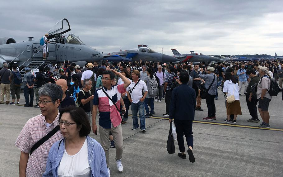 Japanese visitors poured into the annual, two-day Friendship Festival at Yokota Air Base, Japan, on Saturday, Sept. 14, 2019.