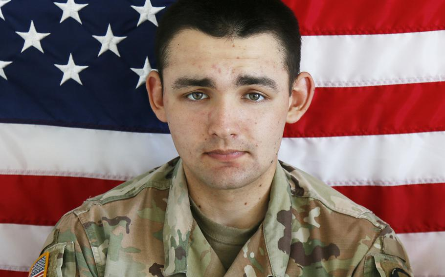 Spc. Nicholas C. Panipinto, 20,died on Nov. 6, 2019, from injuries sustained when a Bradley Fighting Vehicle overturned  at Camp Humphreys.