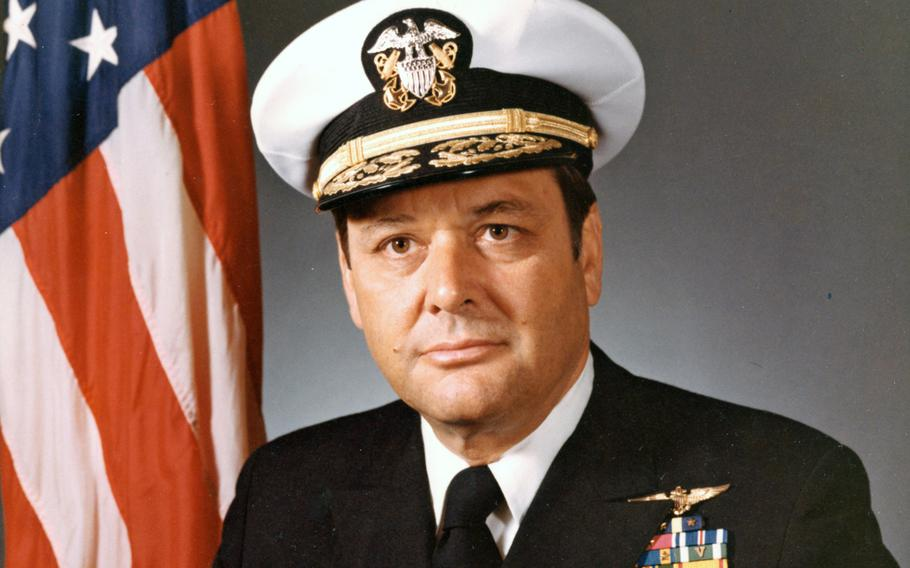 Adm. James L. Holloway III poses for a photo taken July 18, 1974, while he was U.S. chief of naval operations.