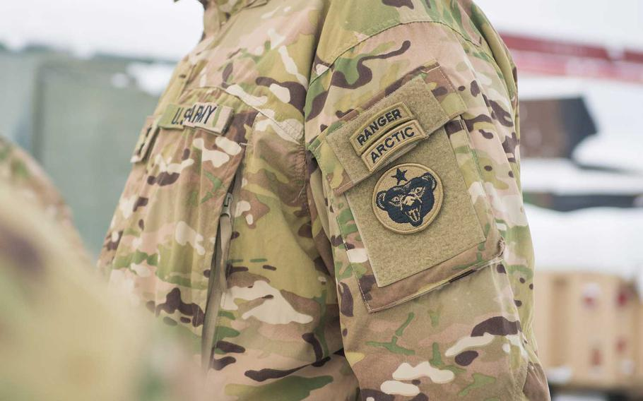 The artic tab was redesigned in November to more closely track the arched shape and placement of tabs worn by Rangers and sappers, U.S. Army Alaska said in a recent news release.