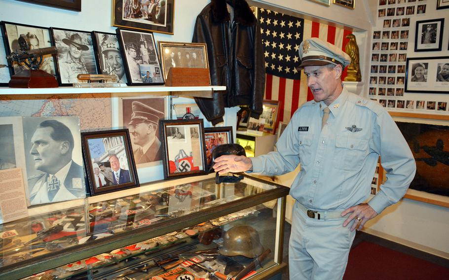 Glen Tomlinson, owner of the Home of the Brave Museum in Honolulu, talks about a collection of World War II Nazi artifacts donated over the years by American war veterans, Oct. 27, 2017.