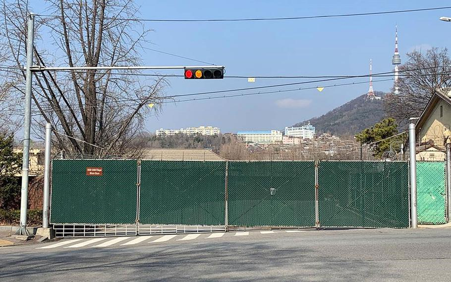 Yongsan Garrison in Seoul, South Korea, has closed some gates as access has been limited to prevent the spread of coronavirus.