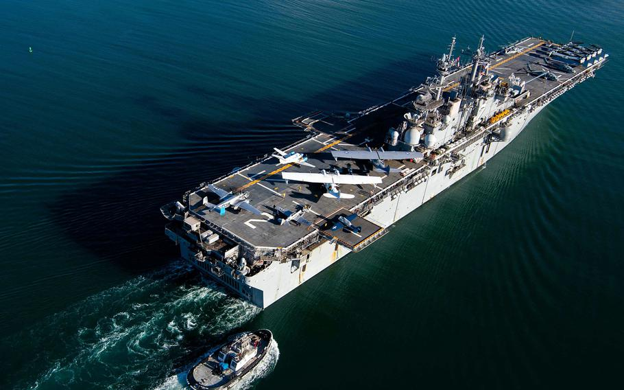 The USS Essex transports a bevy of World War II-era warbirds from San Diego to Hawaii, Aug. 11, 2020.