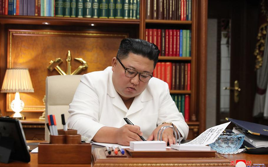 North Korean leader Kim Jong Un shown in an undated photo published by the Korean Central News Agency.