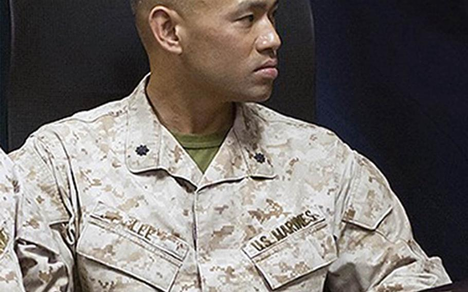 Marine Lt. Col. Samuel K. Lee was convicted in September 2020 of stealing hundreds of dollars of goods from a base store in South Korea.