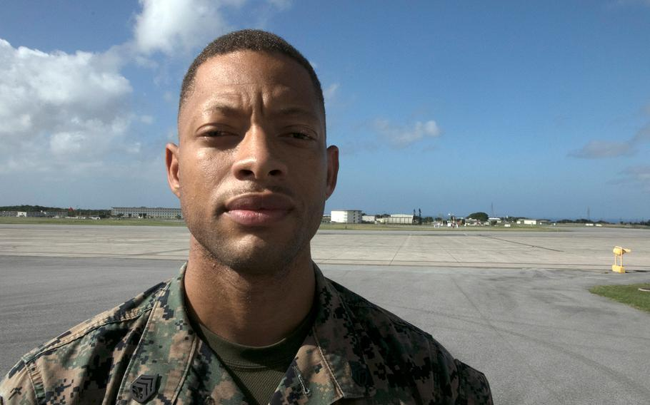 Marine Staff Sgt. Billy Dixson was honored at Marine Corps Air Station Futenma, Okinawa, Nov. 13, 2020, for saving a local woman from drowning after getting caught in a rip current.