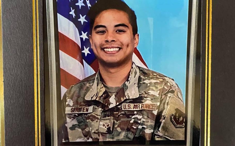 Senior Airman Jeremieh Soroten went missing Nov. 22, 2020, while surfing near Cape Hedo in Okinawa.