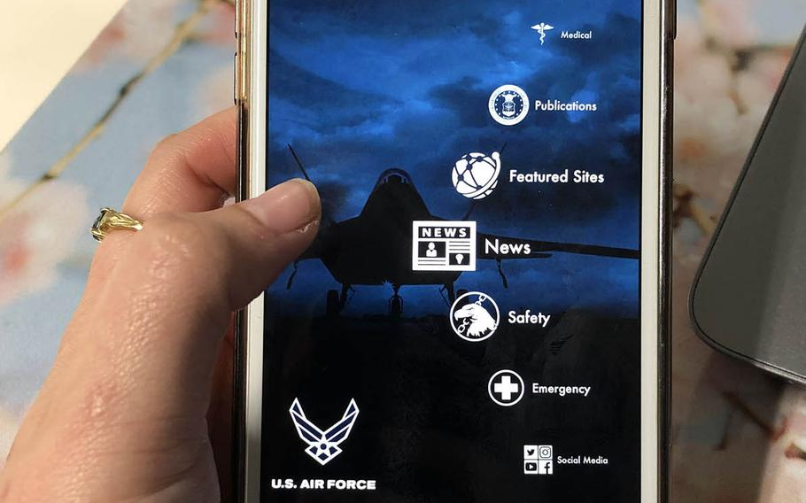 """The USAF Connect mobile application bills itself as a """"one stop shop"""" for base resources."""