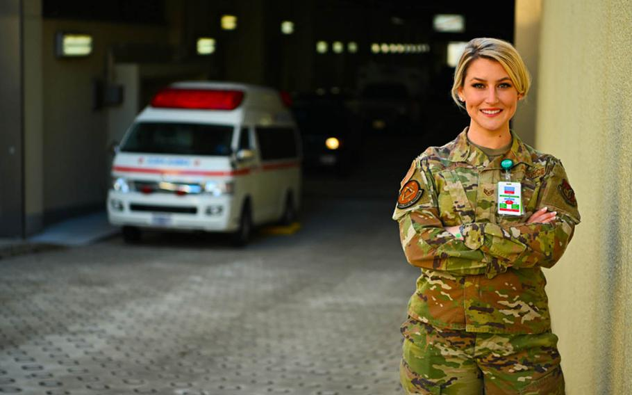 Staff Sgt. Julia DaSilva, of the 35th Medical Group at Misawa Air Base, Japan, designed a pocket-sized card that lists first-aid fundamentals for easy access in a medical emergency.