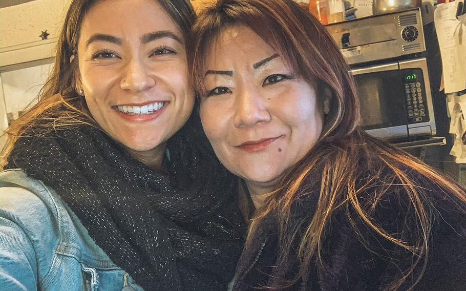 Air Force veteran Isabelle Hyon DuCharme, left, shown here with her mother, Hyon Chu, turned to social media Thursday, Jan. 14, 2021, to help find her dying mother's family in South Korea.
