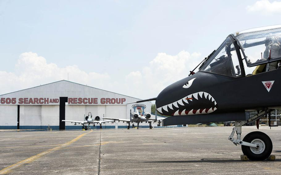A Philippine Air Force OV-10A/C Bronco parks on the flight line at Clark Air Base, Philippines, May 8, 2018.