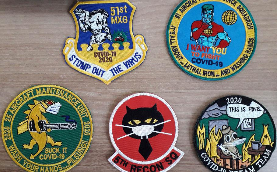 The coronavirus pandemic is being immortalized in a colorful array of unofficial military patches and challenge coins.