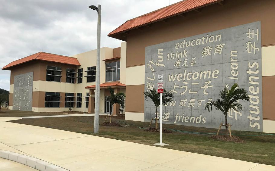 Bob Hope Elementary School is under construction at Kadena Air Base, Okinawa, Feb. 19, 2021.
