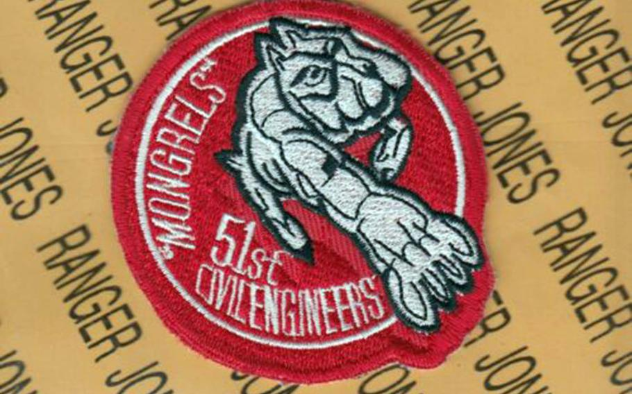 The 51st Civil Engineer Squadron at Osan Air Base, South Korea, has reverted to an older version of its morale patch that shows a pit bull with one paw lunging forward. It replaces a graphic that too closely resembled a symbol associated with a white supremacist group, according to the Air Force.