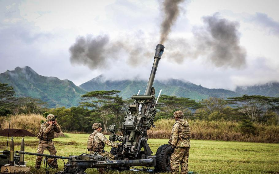 Soldiers with the 25th Infantry Division train for multidomain battlefield conditions at Schofield Barracks, Hawaii, Jan. 19, 2021.