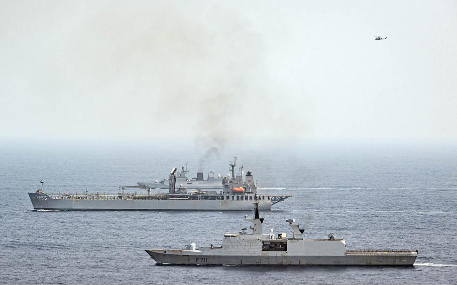 Vessels from France, the United States, Australia, India and Japan kicked off the three-day Exercise La Perouse in the Bay of Bengal on Monday, April 5, 2021.