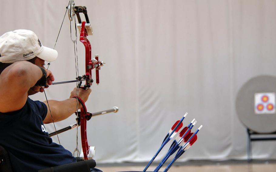 Navy veteran Andre Shelby, seen here in 2011, will compete against 15-20 other archers in a qualification tournament next month that will see three selected to travel to Japan with the U.S. Paralympic team.
