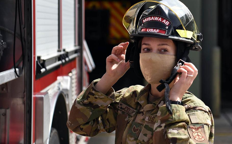 Air Force Staff Sgt. Journey Collier, a 35th Civil Engineer Squadron firefighter, recently won the Air Force Military Firefighter of the Year award.