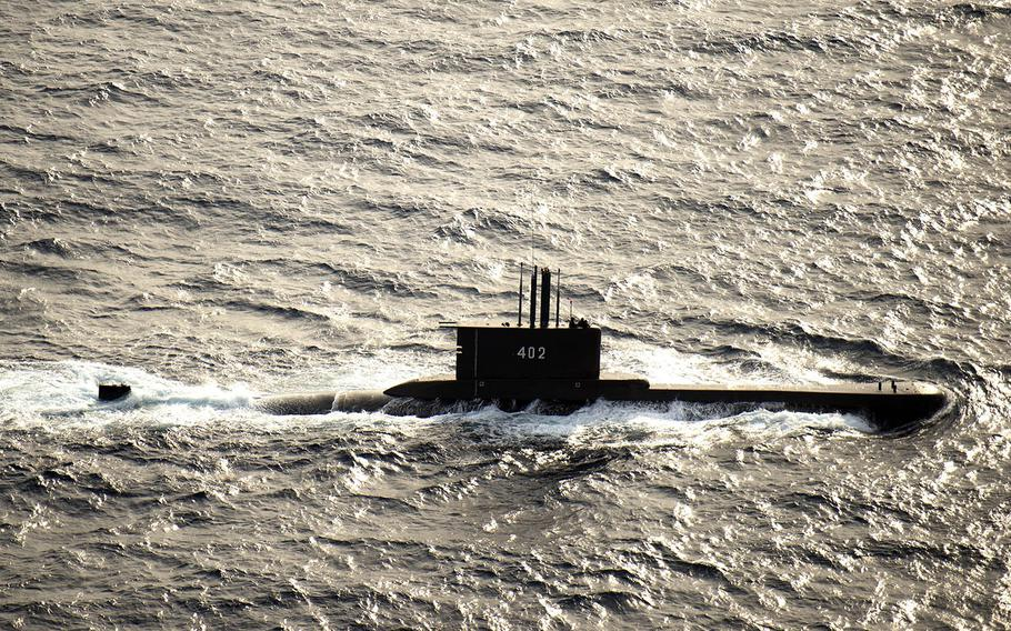 The Indonesian submarine KRI Nanggala-402 takes part in Cooperation Afloat Readiness and Training with the U.S. Navy in the Java Sea, Aug. 8, 2015.