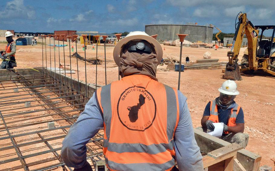 Camp Blaz, seen here under construction in Feburary 2020, will accommodate the move of 5,000 members of the III Marine Expeditionary Force off Okinawa over the next five years.
