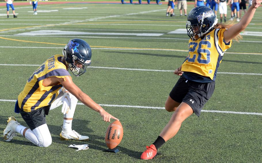 Ali Shimasaki, a senior, was a placekicker on Guam High School's football team and was one of three returning girls soccer players from last year on a Panthers team that was aiming for its third island championship and a return to Far East Tournament play for the first time since 2013. Guam's private school league announced Friday it was shuttering spring sports season through the rest of the school year.