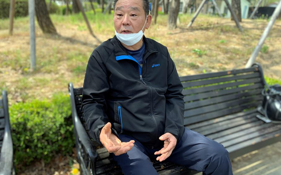 Yi Taeki, 59, has been employed by U.S. Forces Korea as a kitchen workers at Camp Casey for 31 years, but he was placed on unpaid leave. Speaking near his home in Dongducheon on April 24, 2020, Yi said he may have to get a part-time job if the furlough continues much longer.