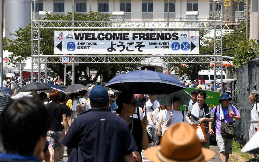 Visitors packed Yokosuka Naval Base, Japan, for the 43rd annual Friendship Day on Saturday, Aug. 3, 2019.