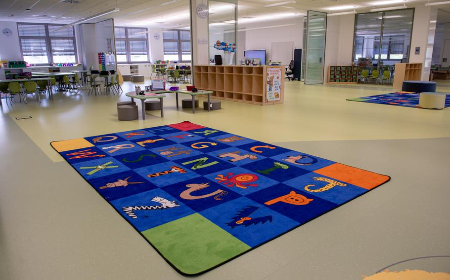 Each grade is a neighborhood with multiple teachers with the new open concept classrooms at Vogelweh Elementary School.