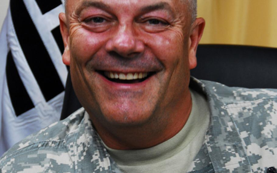 Col. David Hall, commander of U.S. Army Garrison-Yongsan. Hall steps down from command on July 8.