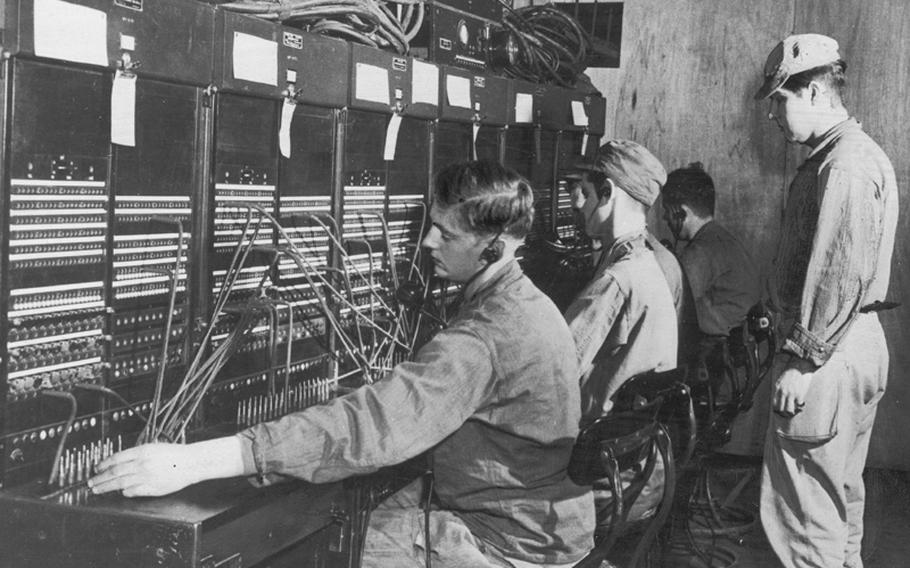 Switchboard operators of the 101st Signal Battalion go through their daily routine of connecting IC Corp units with other commands in Korea in this photo from 1952. An estimated 8,000 calls were handled daily by these soldier operators.