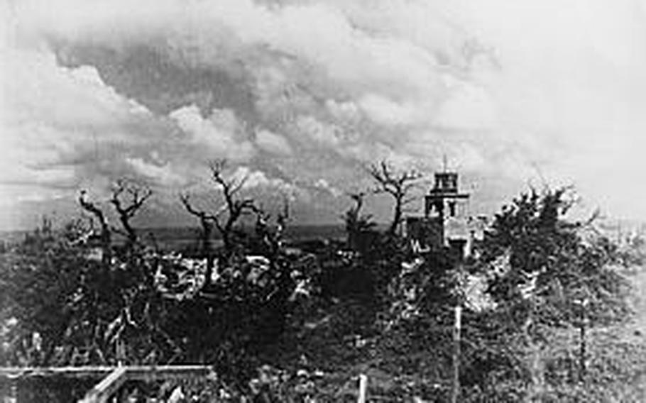 Shuri on Okinawa in 1945